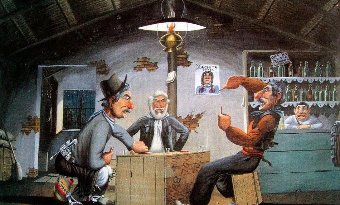El artista Florencio Molina Campos y el truco