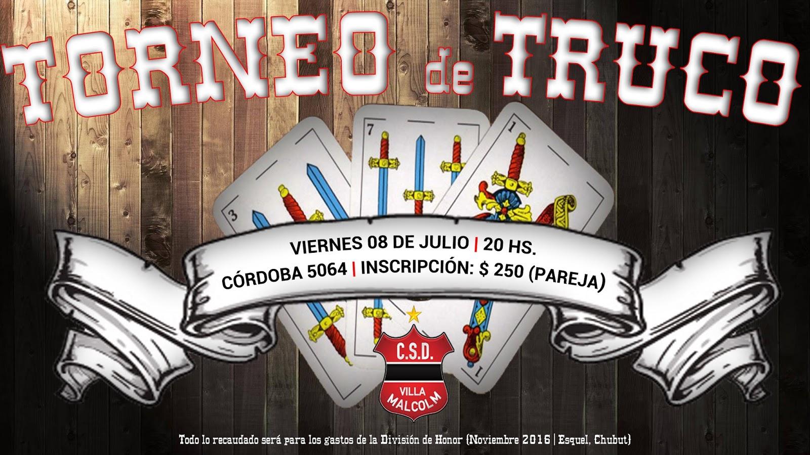 2° Gran Torneo de Truco en Roldán, organizado por el Club Independiente