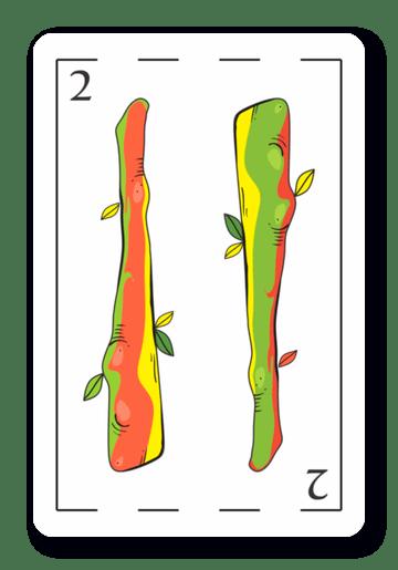 2 de Bastos - Naipes ASART
