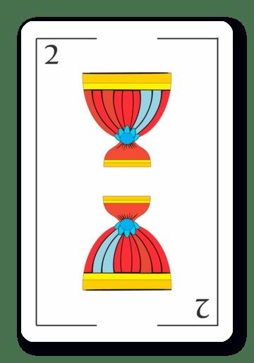 2 de Copas - Naipes ASART