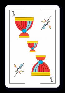 3 de Copas - Naipes ASART