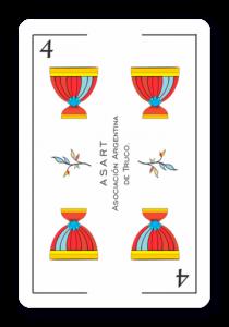 4 de Copas - Naipes ASART