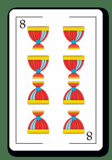 8 de Copas - Naipes ASART