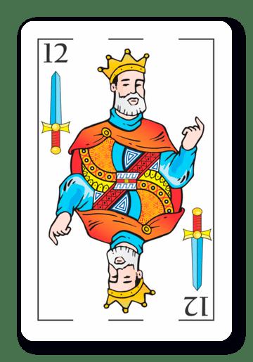 12 de Espadas - Naipes ASART