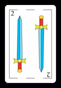 2 de Espadas - Naipes ASART