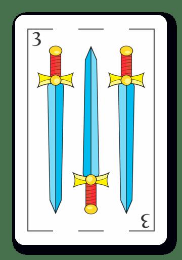 3 de Espadas - Naipes ASART