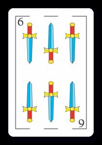 6 de Espadas - Naipes ASART