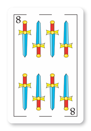 8 de Espadas - Naipes ASART