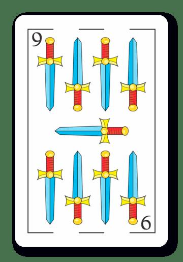 9 de Espadas - Naipes ASART
