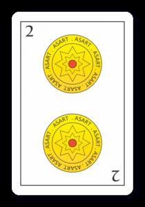 2 de Oros - Naipes ASART