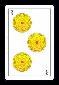 3 de Oros - Naipes ASART