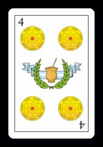 4 de Oros - Naipes ASART
