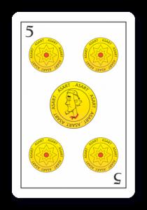 5 de Oros - Naipes ASART