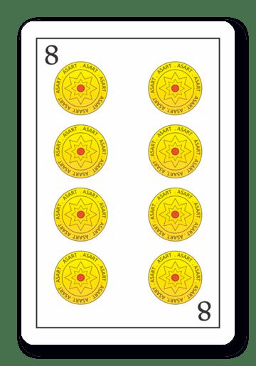 8 de Oros - Naipes ASART