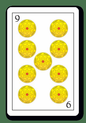 9 de Oros - Naipes ASART